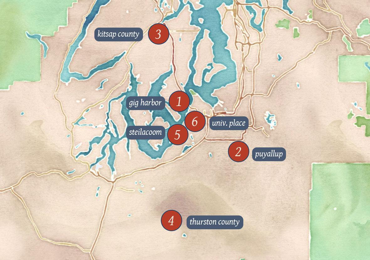 Zetterberg Communities Map